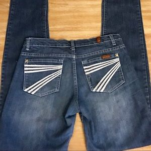 7 For All Mankind Straight Leg Jeans, 29